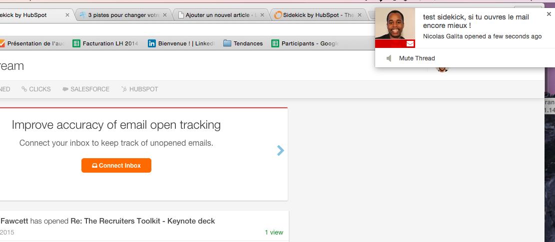 comment vérifier si email ouvert sidekick