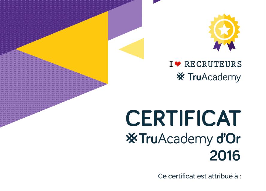 certificat recruteur recrutement #TruAcademy