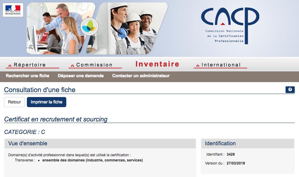 certificat en recrutement et sourcing