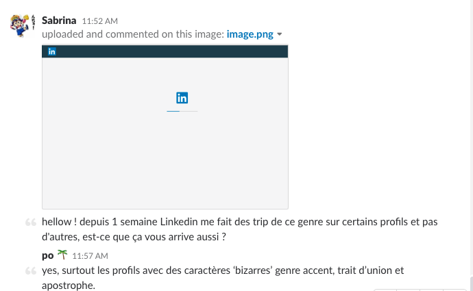 bugs recrutement linkedin