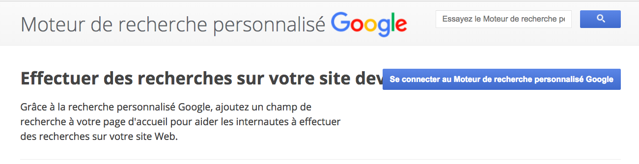 creer un google cse recrutement