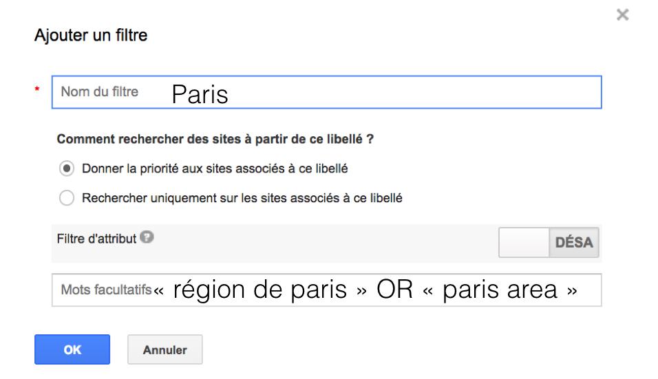 filtres google cse sourcing