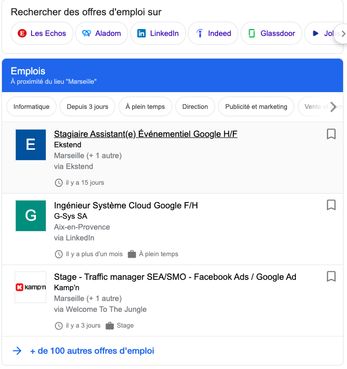 Google for jobs france recrutement